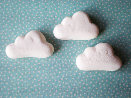 fluffy marshmallow clouds a girl amp her dot