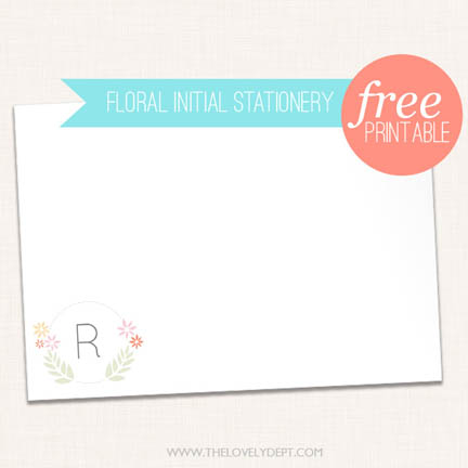 This is an image of Free Stationary Printable with blank