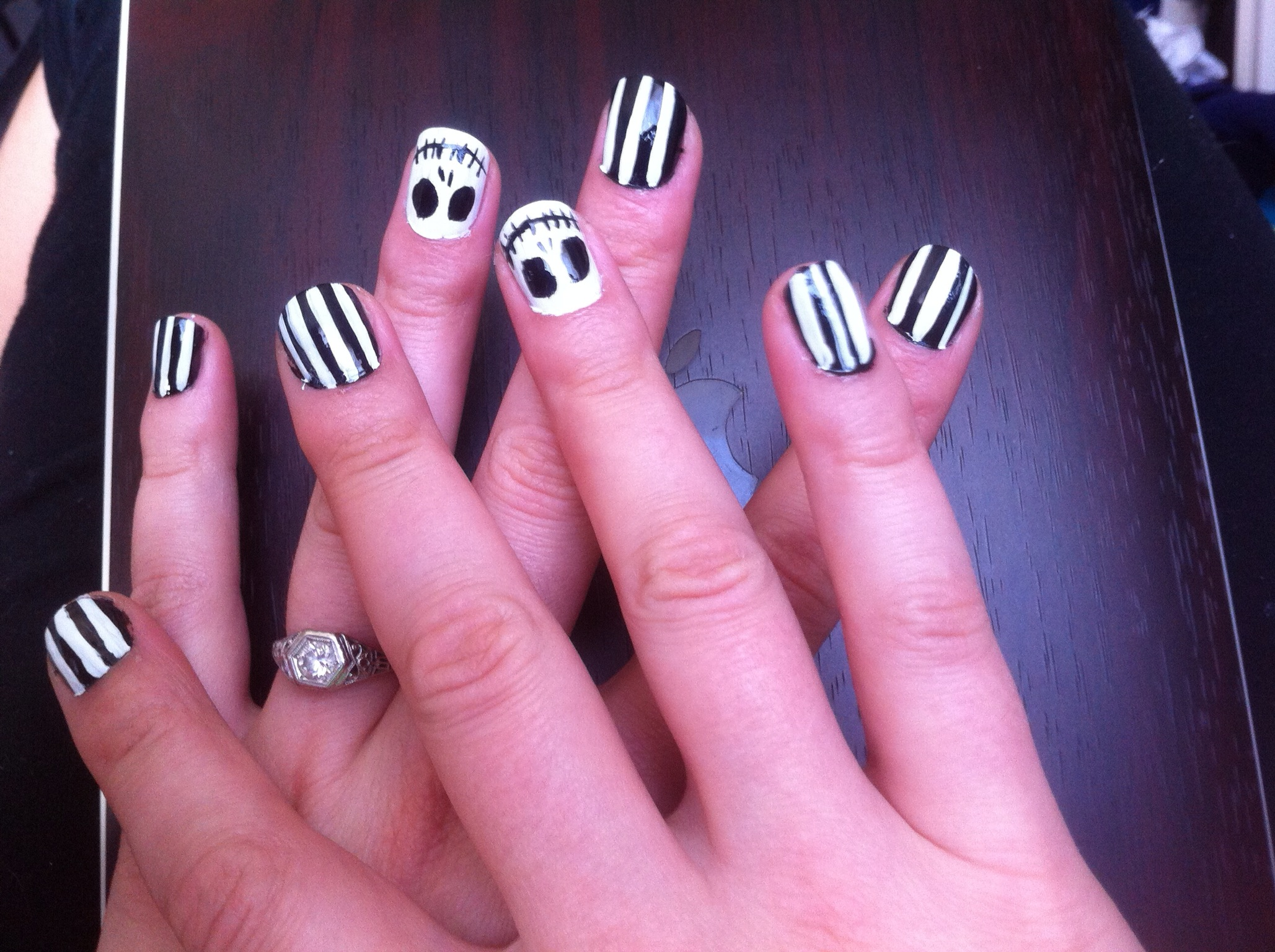Nightmare Before Christmas Jack Skellington Nail Art A Girl Her Dot