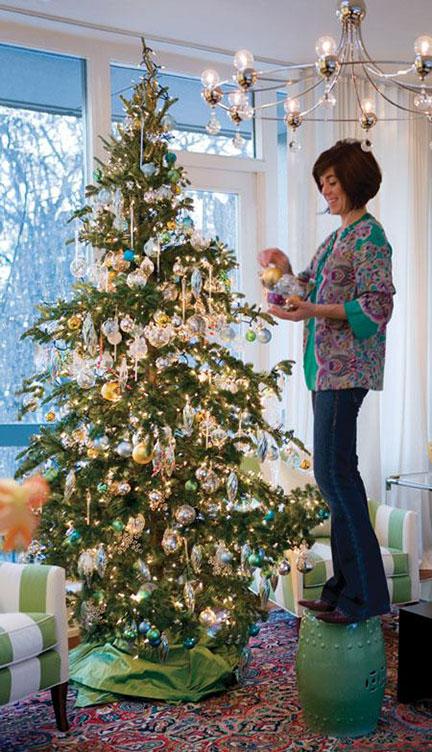 sarah richardson turquoise and green christmas tree
