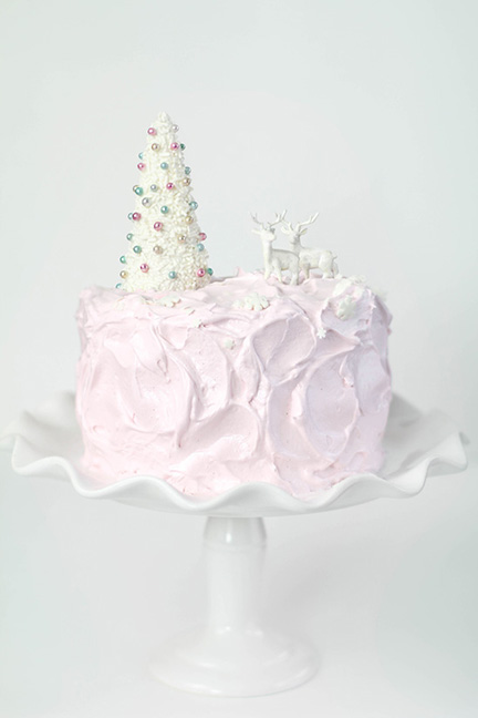SprinkleBakes eggnog cake with pink marshmallow frosting 11