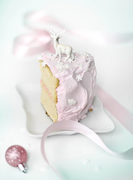 SprinkleBakes eggnog cake with pink marshmallow frosting 9.